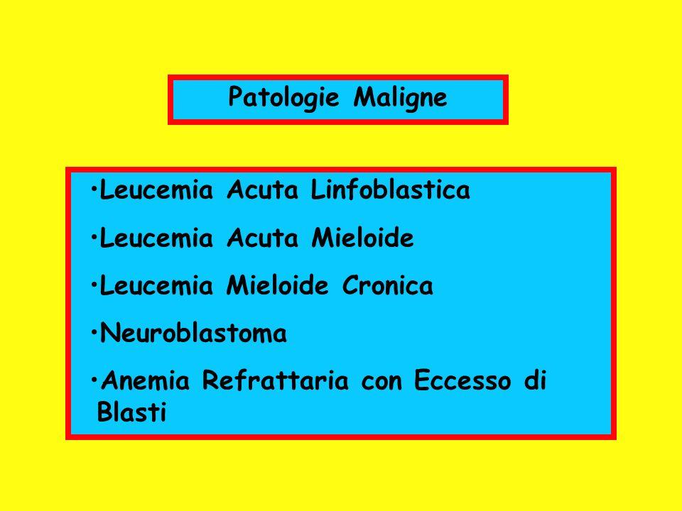 Patologie MaligneLeucemia Acuta Linfoblastica. Leucemia Acuta Mieloide. Leucemia Mieloide Cronica. Neuroblastoma.