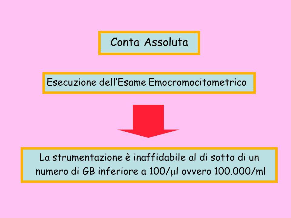Conta Assoluta Esecuzione dell'Esame Emocromocitometrico