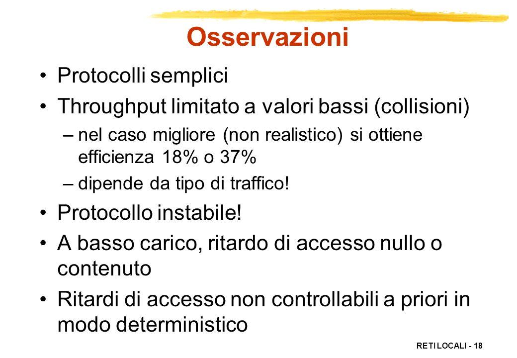Osservazioni Protocolli semplici
