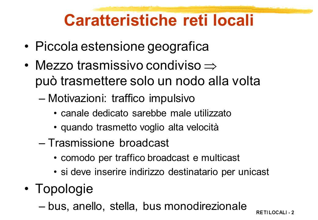 Caratteristiche reti locali