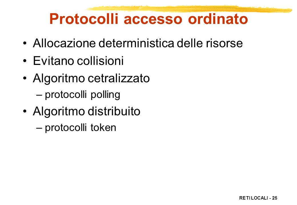 Protocolli accesso ordinato