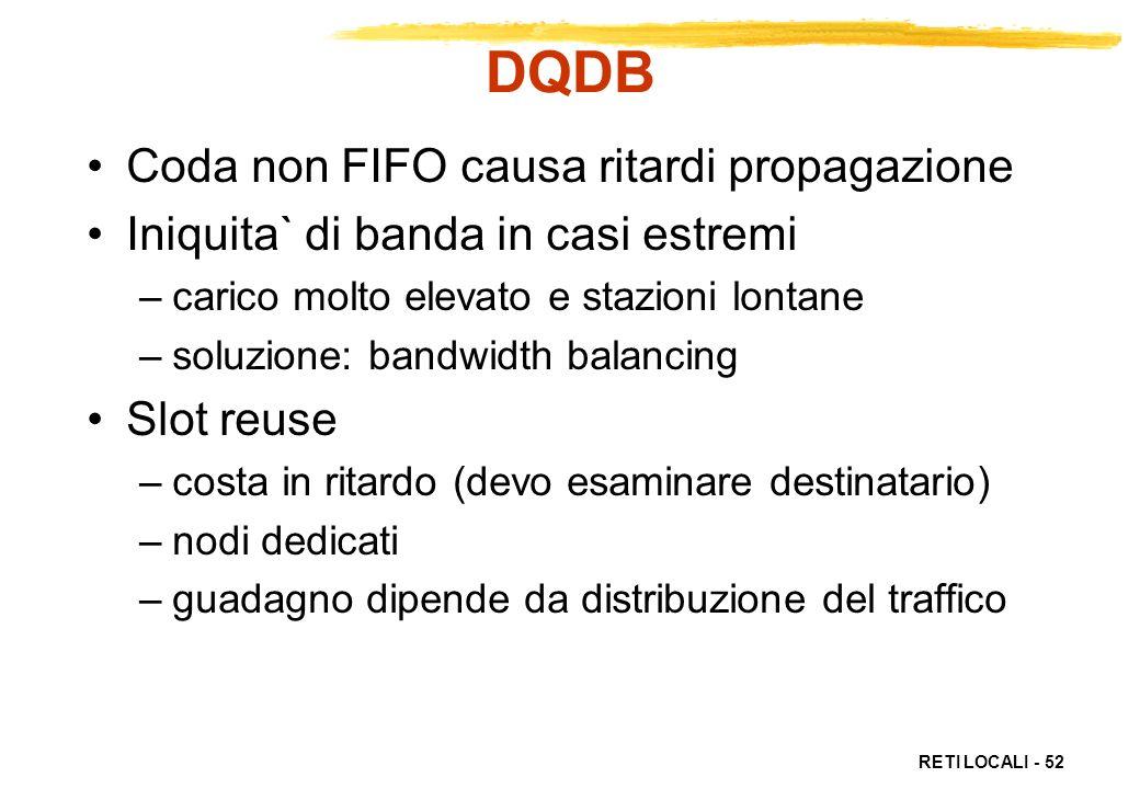 DQDB Coda non FIFO causa ritardi propagazione