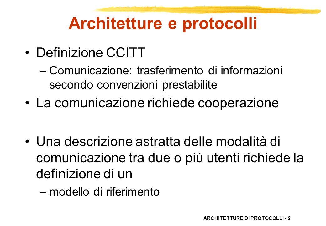Architetture e protocolli
