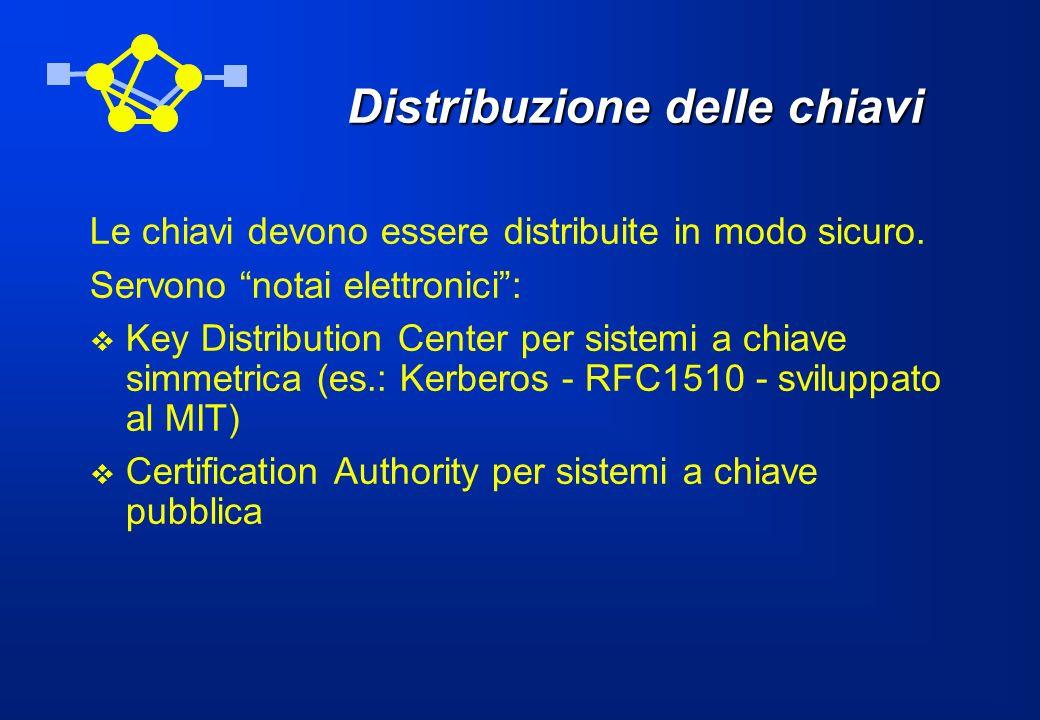 Distribuzione delle chiavi