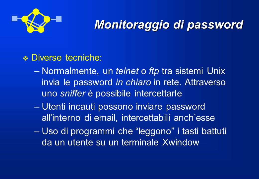 Monitoraggio di password