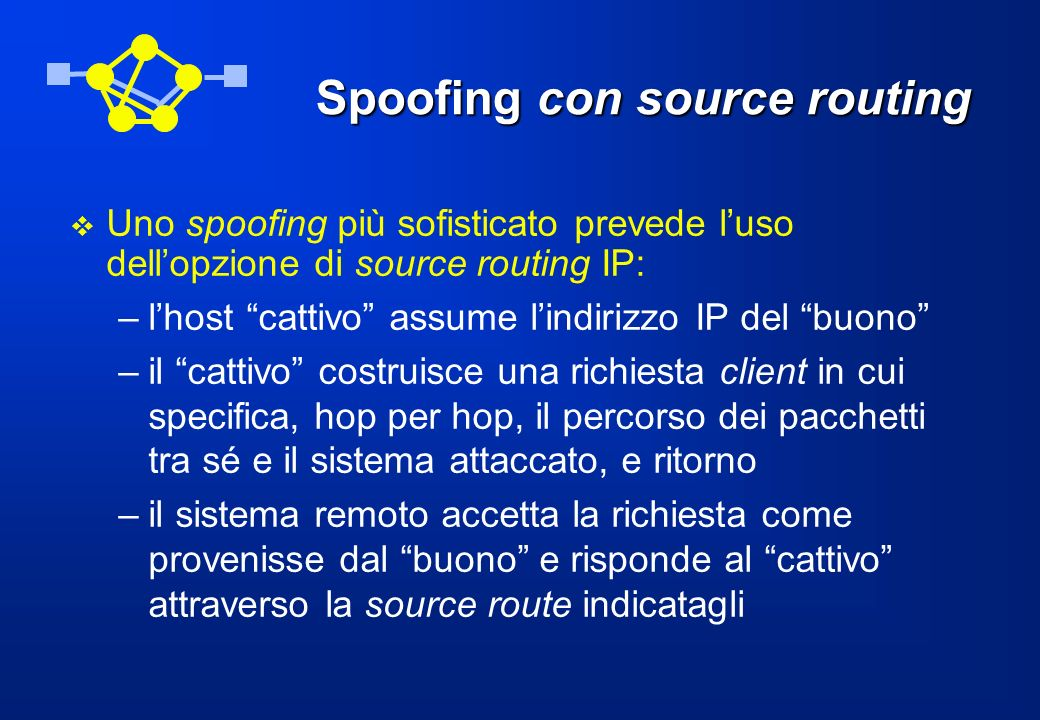 Spoofing con source routing