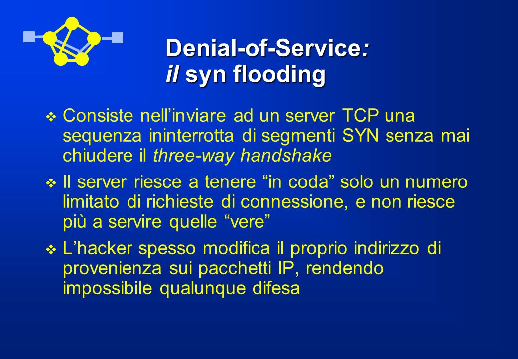 Denial-of-Service: il syn flooding