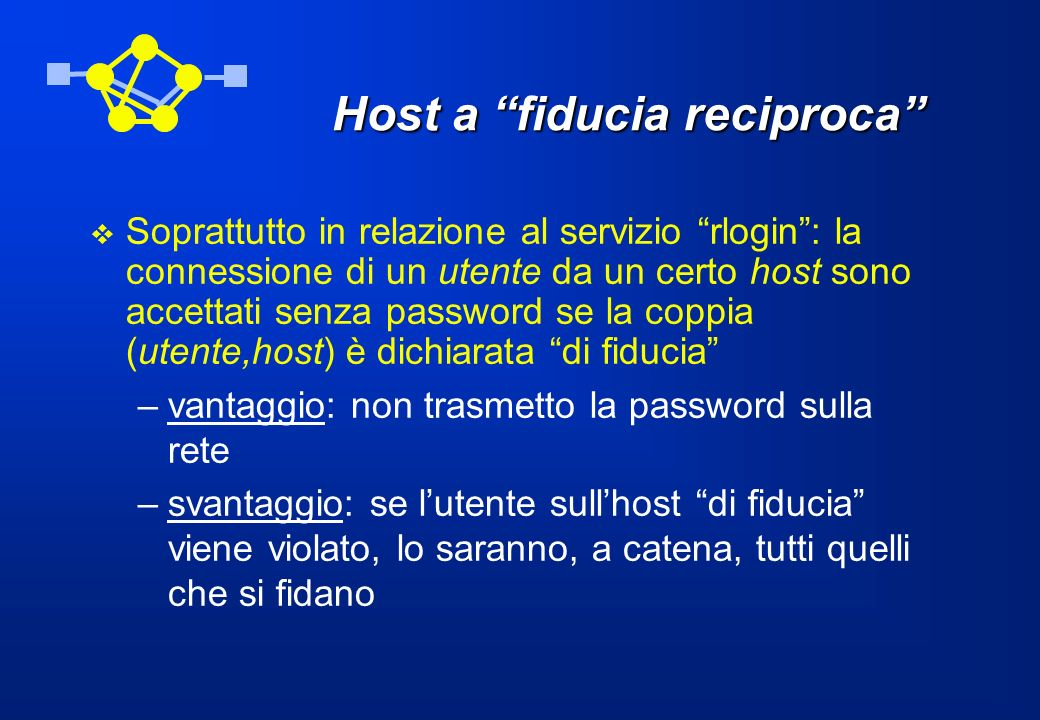 Host a fiducia reciproca