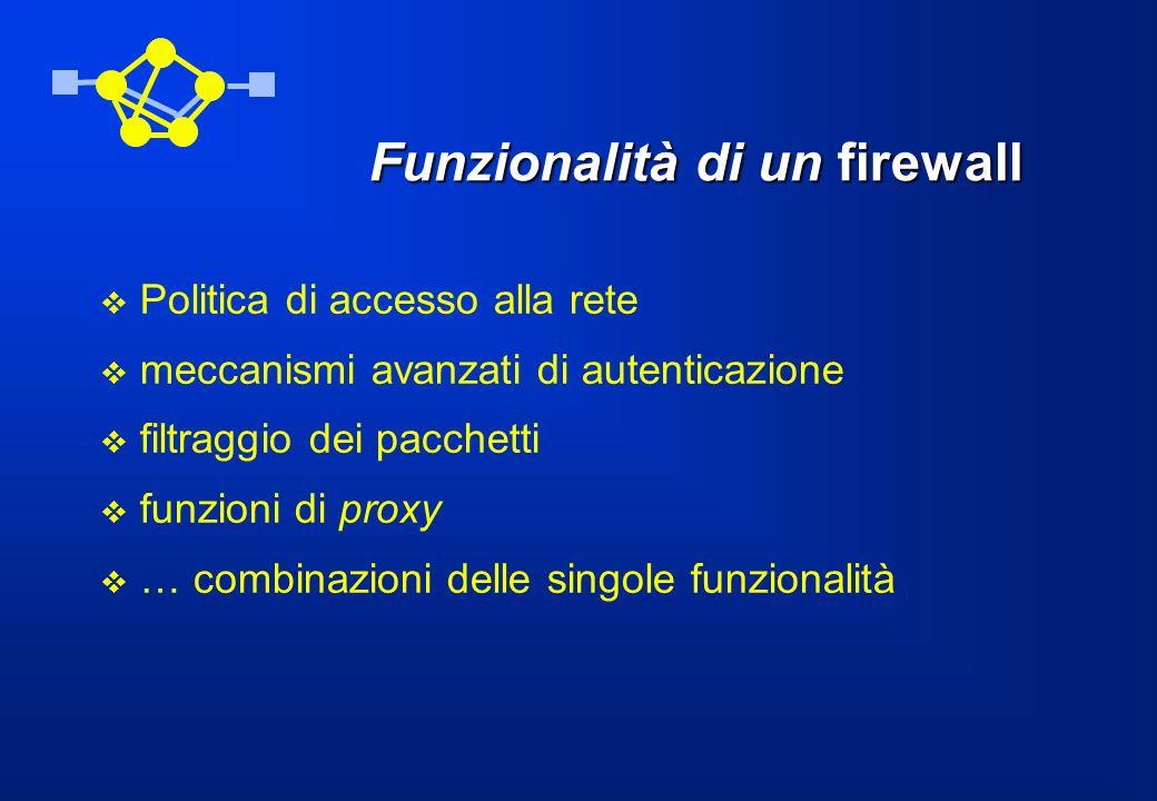 Funzionalità di un firewall