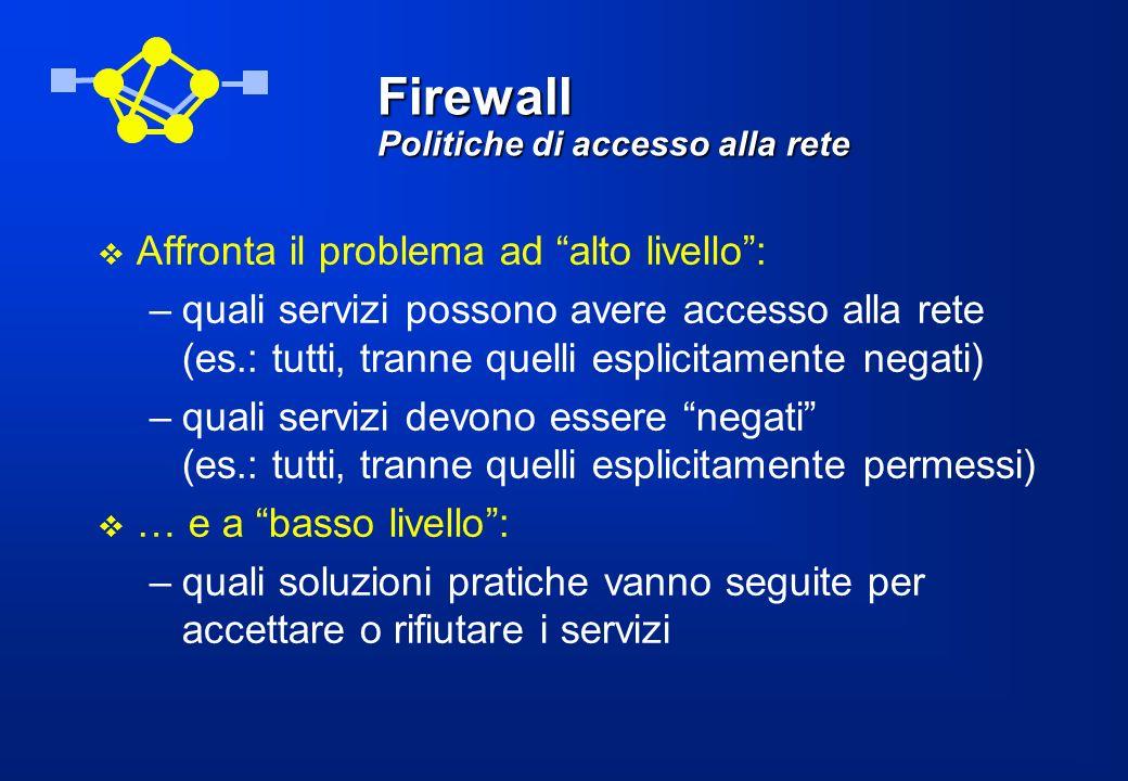 Firewall Politiche di accesso alla rete