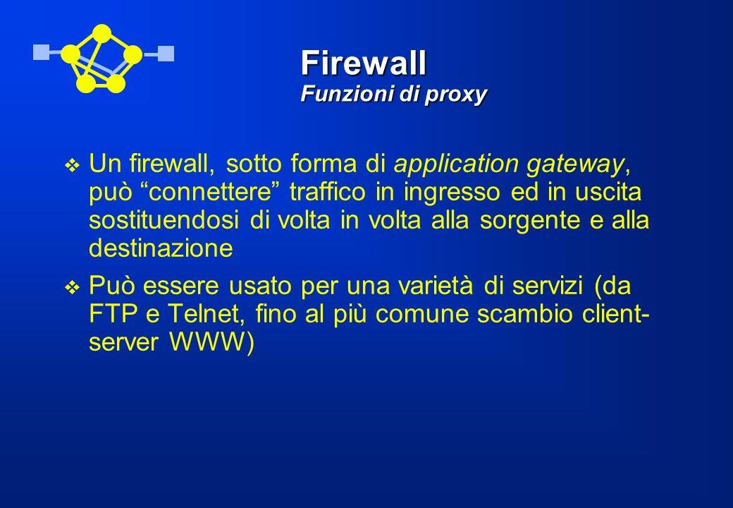 Firewall Funzioni di proxy