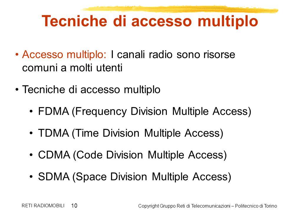 Tecniche di accesso multiplo