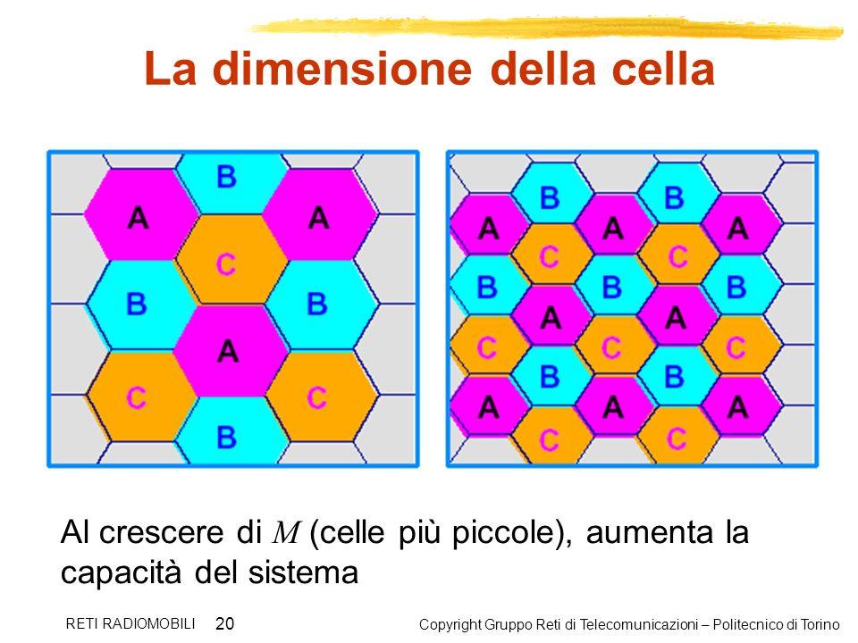 La dimensione della cella