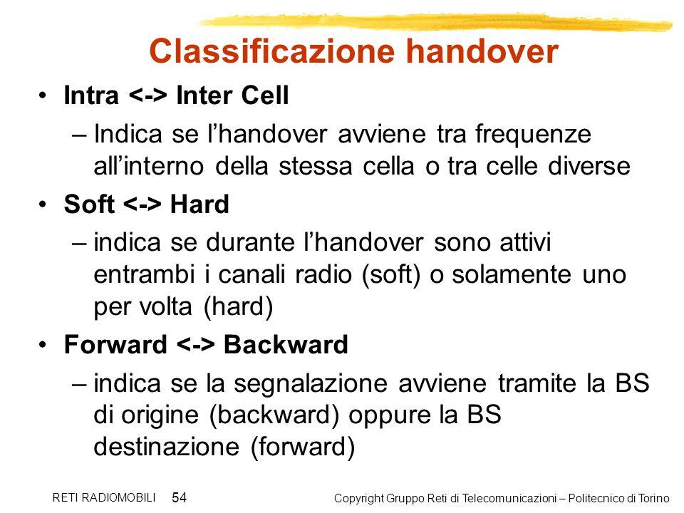 Classificazione handover