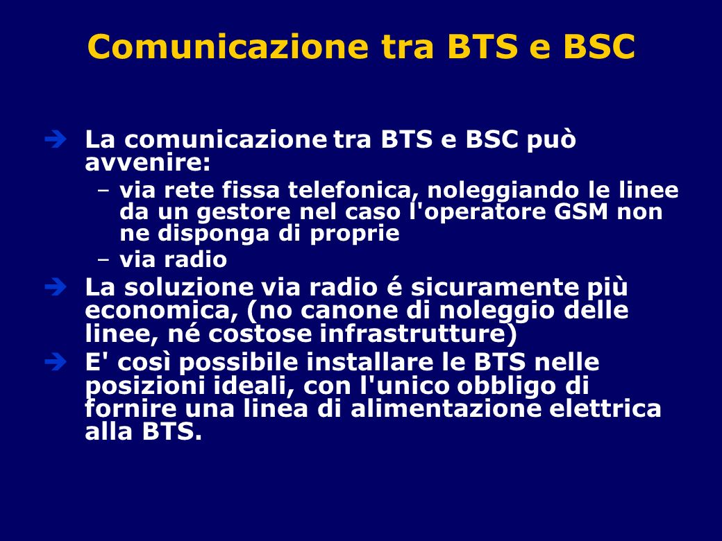 Comunicazione tra BTS e BSC