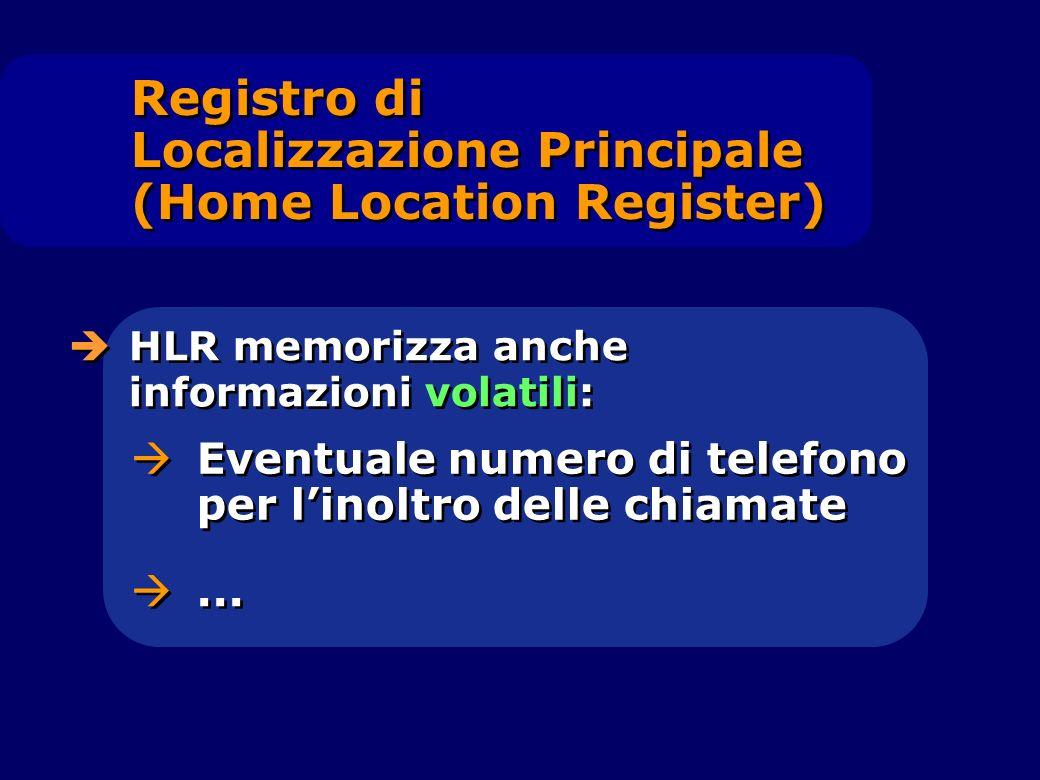 Registro di Localizzazione Principale (Home Location Register)