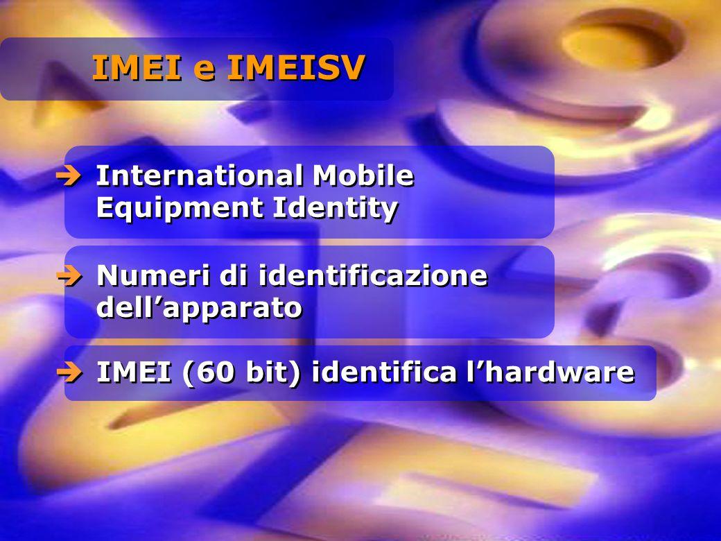 IMEI e IMEISV International Mobile Equipment Identity