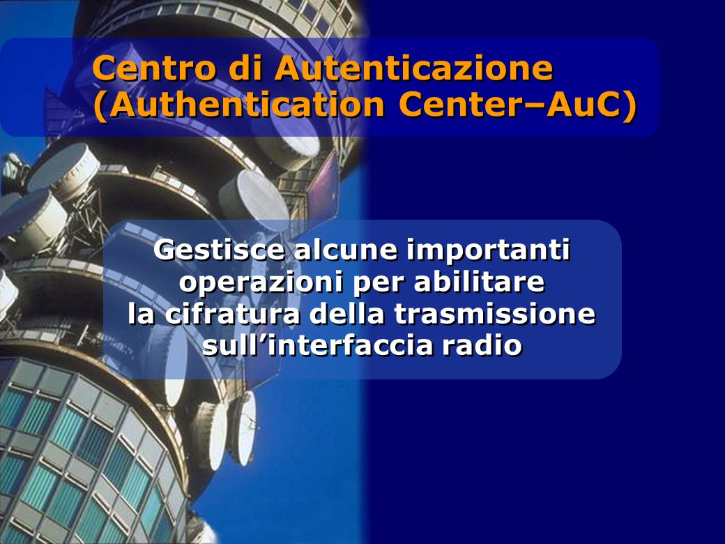 Centro di Autenticazione (Authentication Center–AuC)