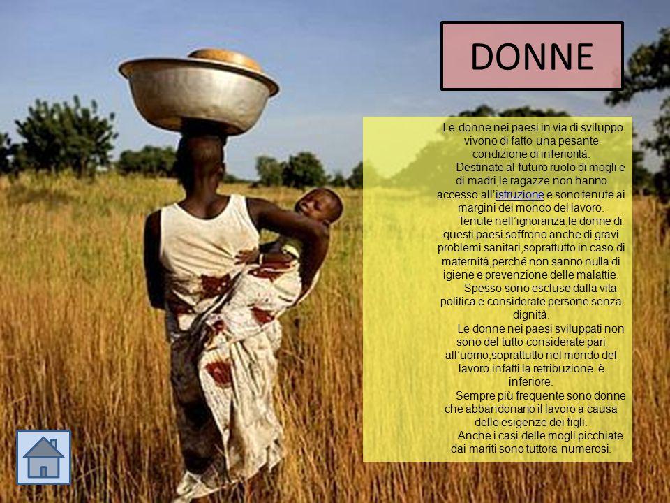 DONNE Le donne nei paesi in via di sviluppo