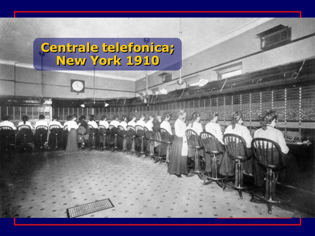 Centrale telefonica; New York 1910