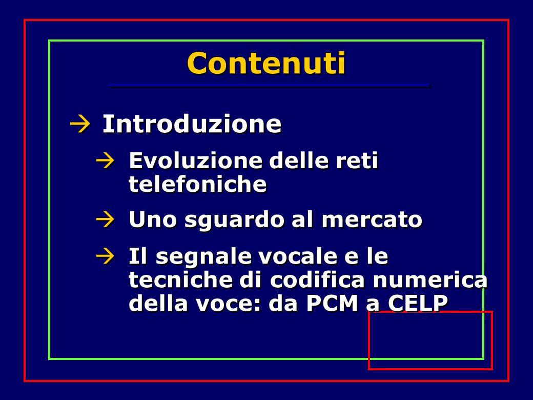 Contenuti Introduzione Evoluzione delle reti telefoniche