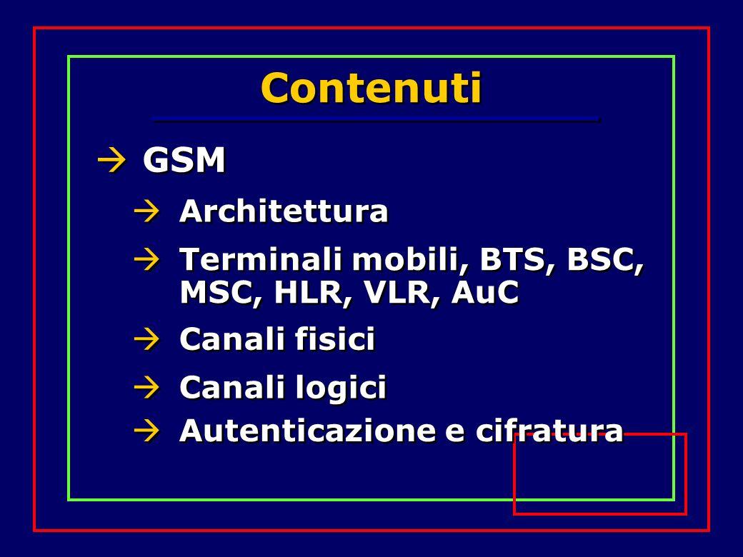 Contenuti GSM Architettura
