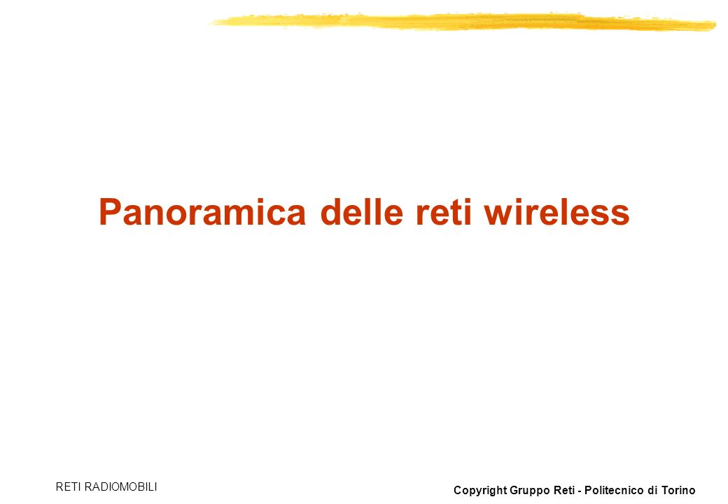 Panoramica delle reti wireless