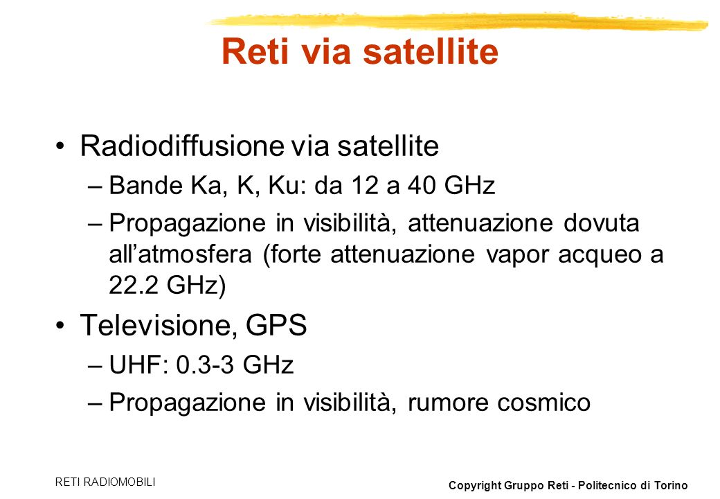 Reti via satellite Radiodiffusione via satellite Televisione, GPS