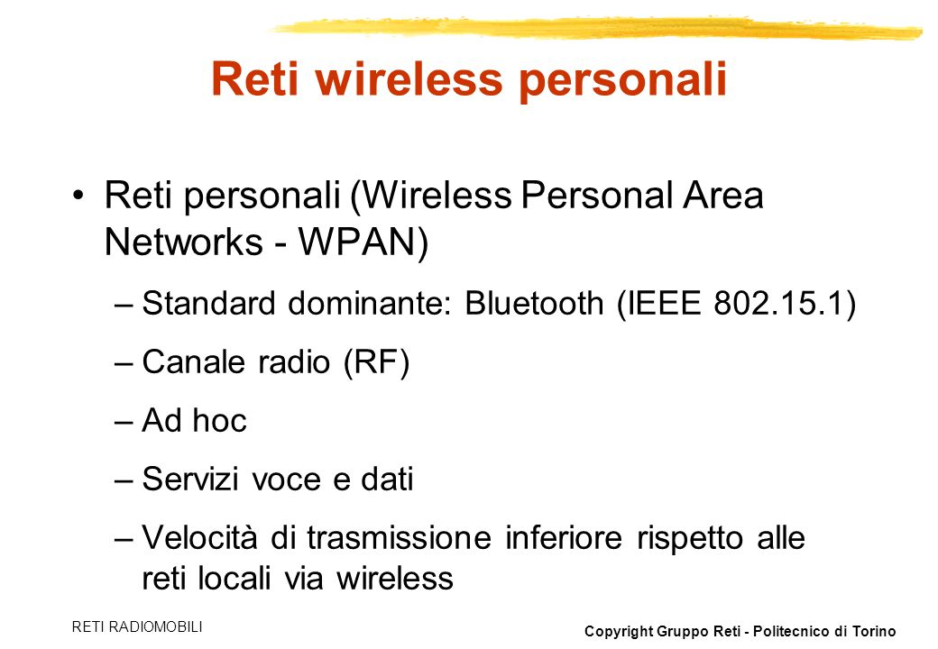 Reti wireless personali
