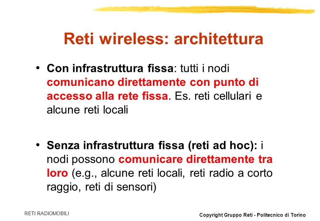 Reti wireless: architettura