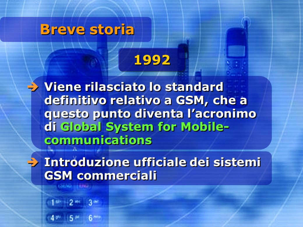 Breve storia 1992.