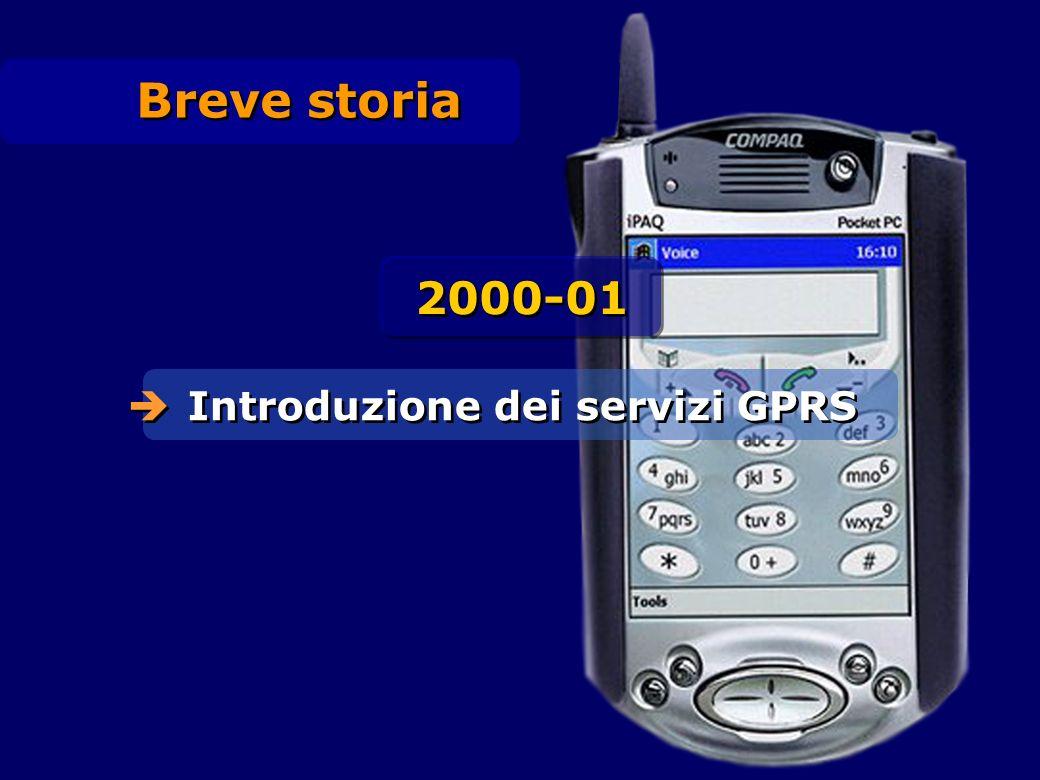 Breve storia 2000-01 Introduzione dei servizi GPRS