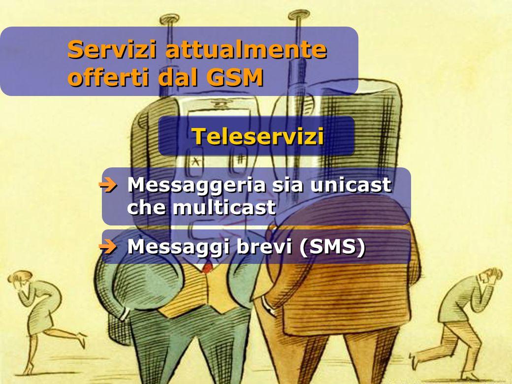 Servizi attualmente offerti dal GSM