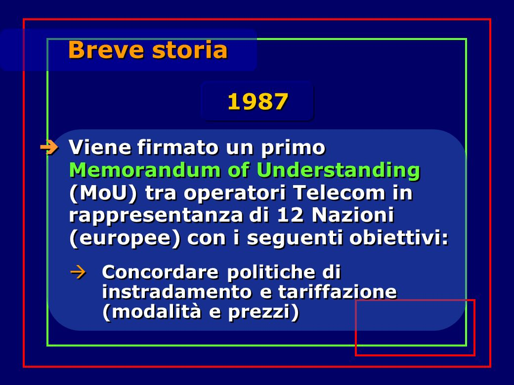 Breve storia 1987.