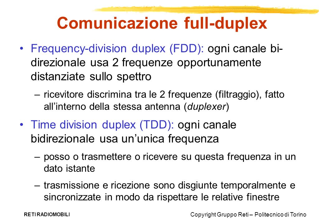 Comunicazione full-duplex