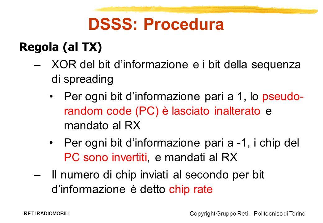 DSSS: Procedura Regola (al TX)