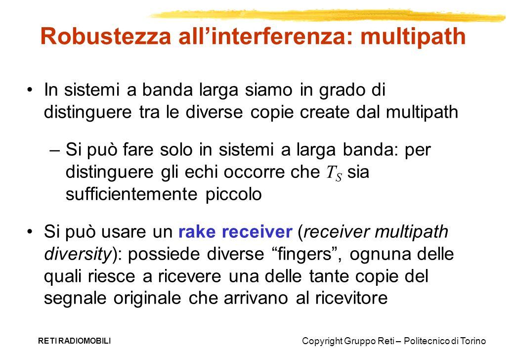 Robustezza all'interferenza: multipath