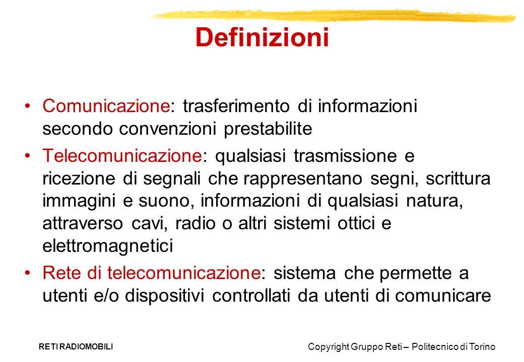 Definizioni Comunicazione: trasferimento di informazioni secondo convenzioni prestabilite.