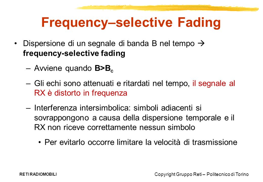 Frequency–selective Fading