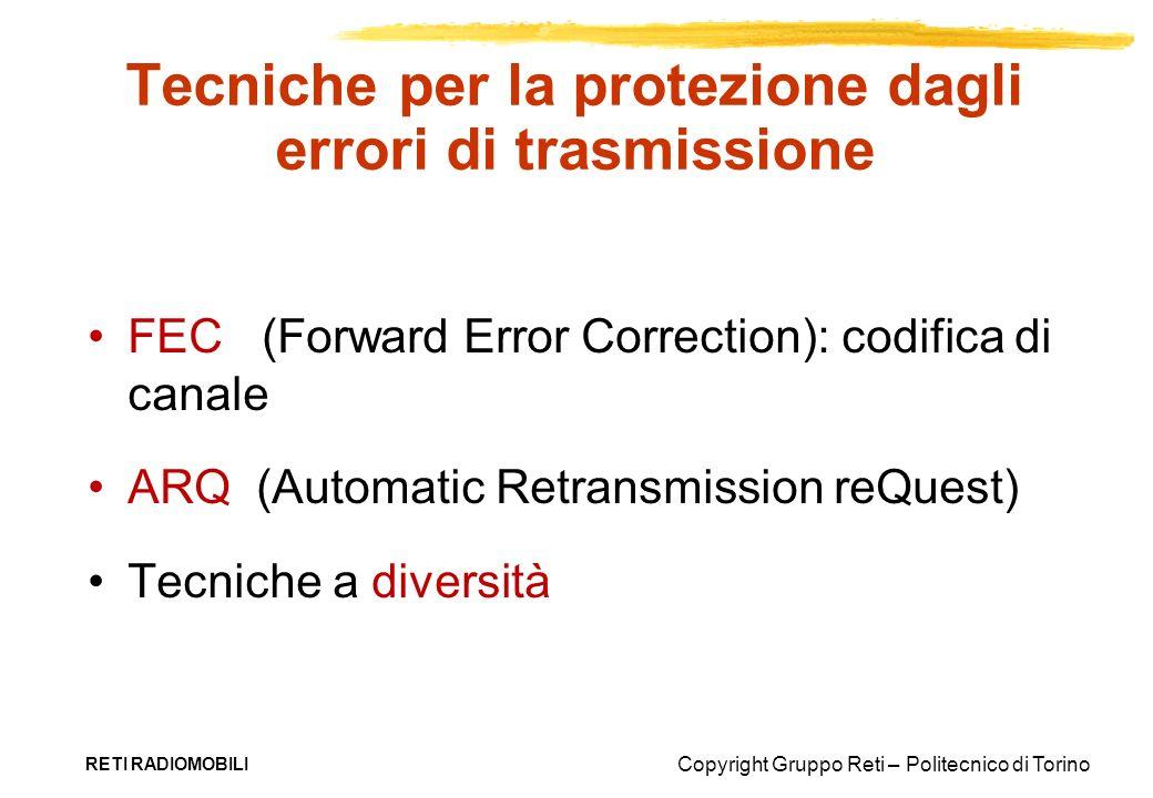 Tecniche per la protezione dagli errori di trasmissione