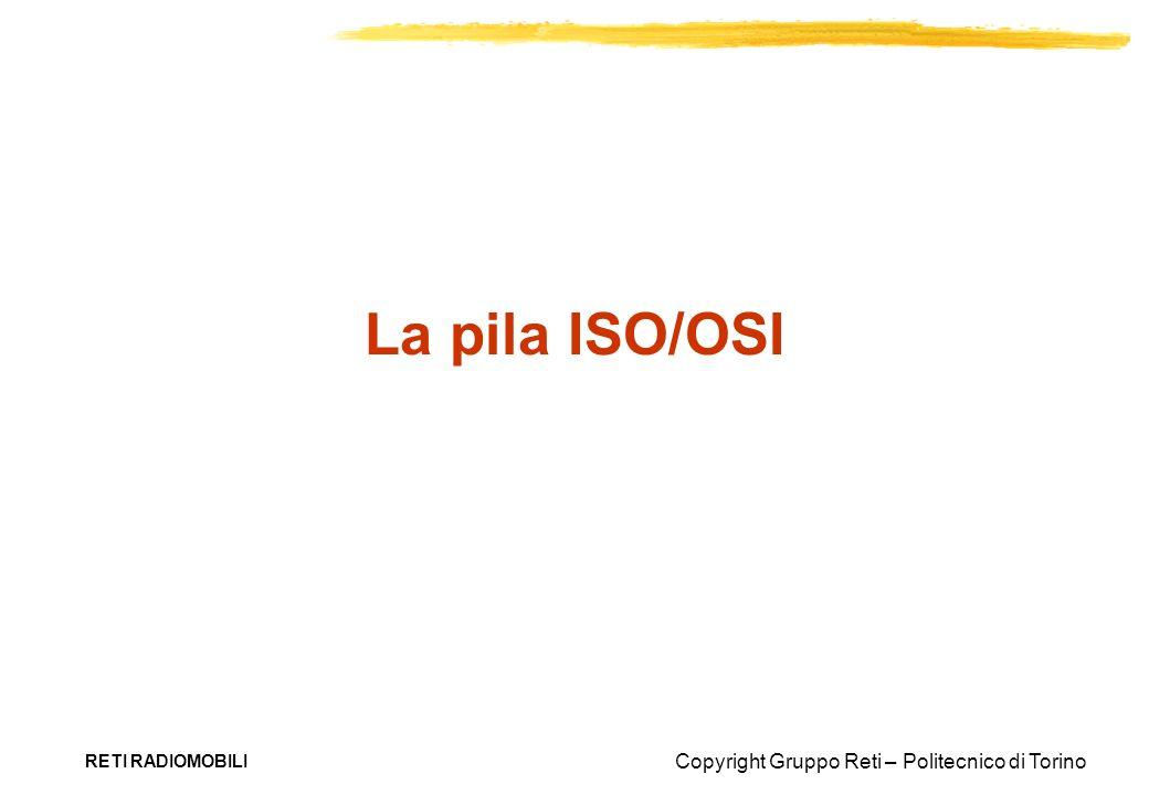 La pila ISO/OSI RETI RADIOMOBILI