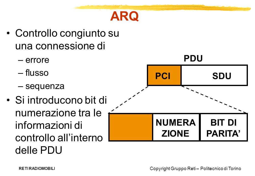 ARQ Controllo congiunto su una connessione di