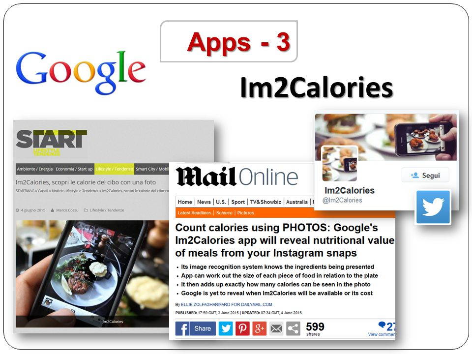 Apps - 3 Im2Calories