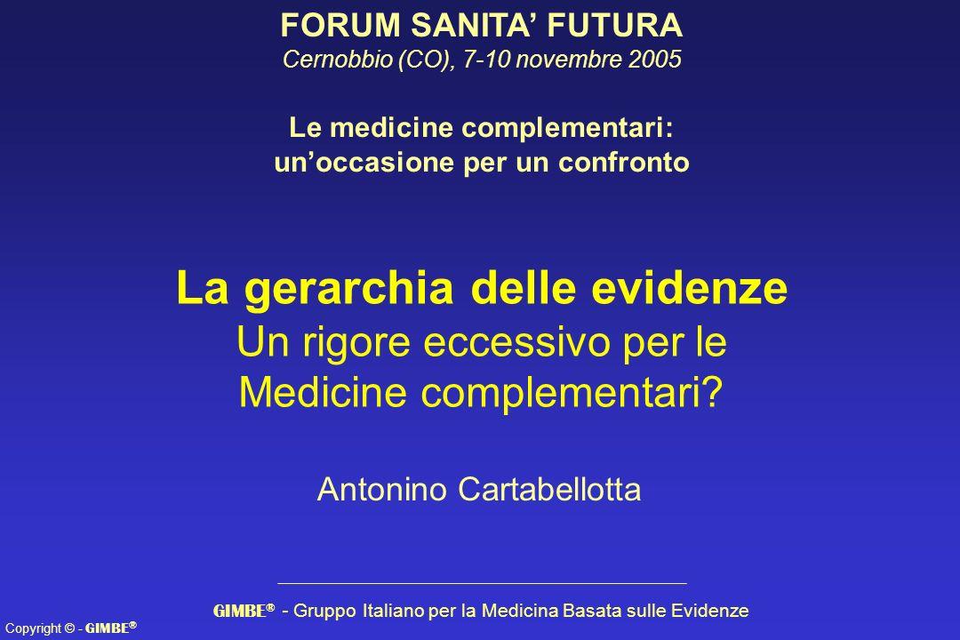 Le medicine complementari: un'occasione per un confronto