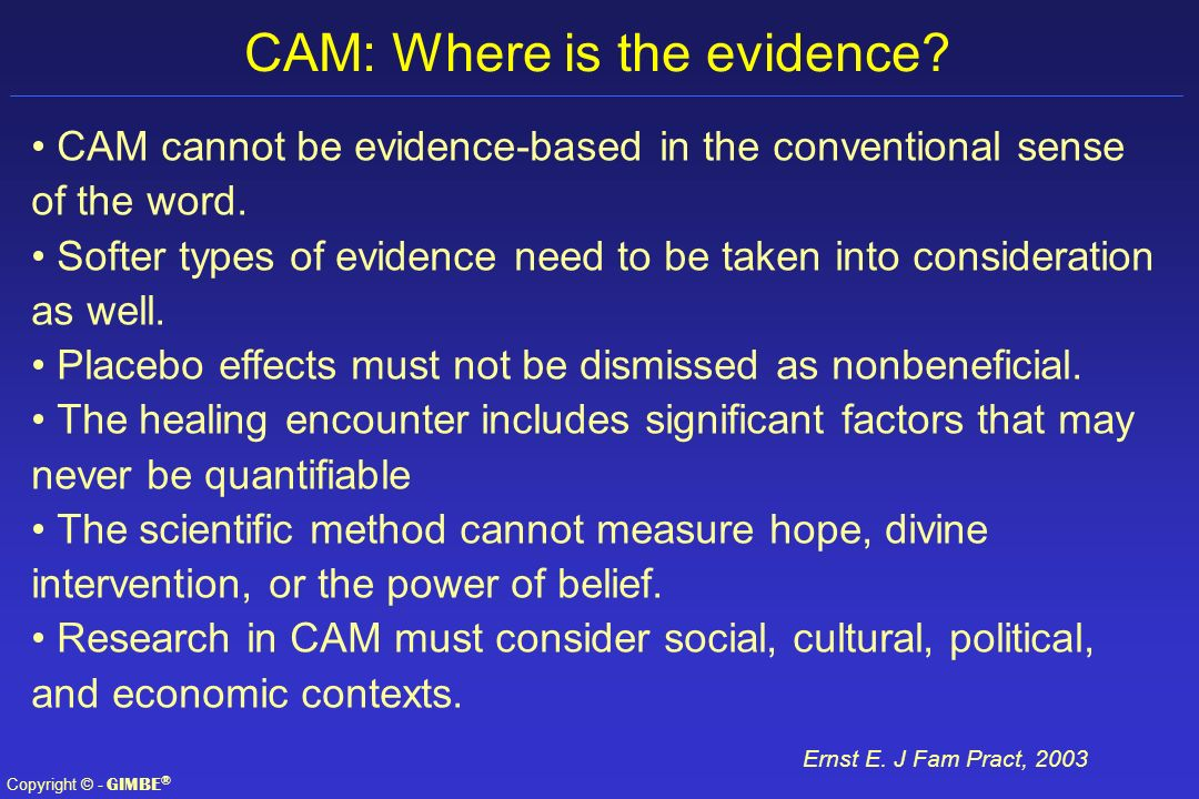 CAM: Where is the evidence