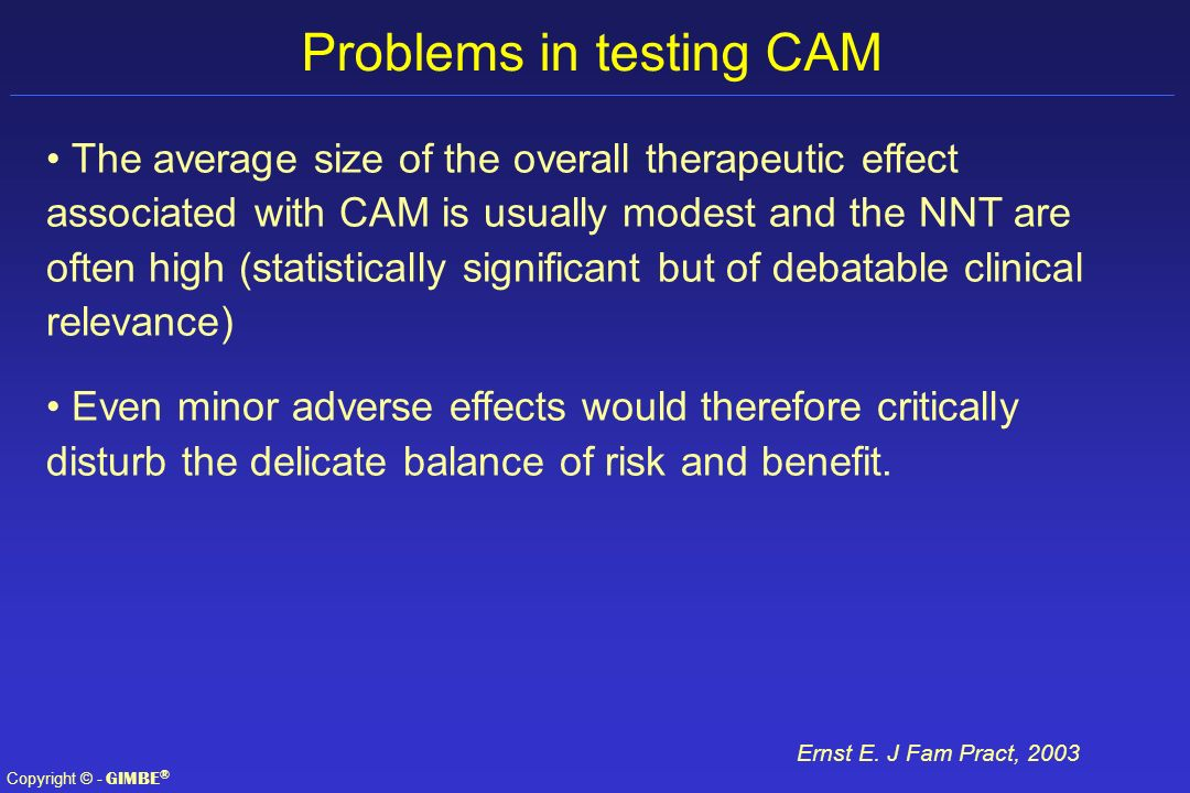 Problems in testing CAM