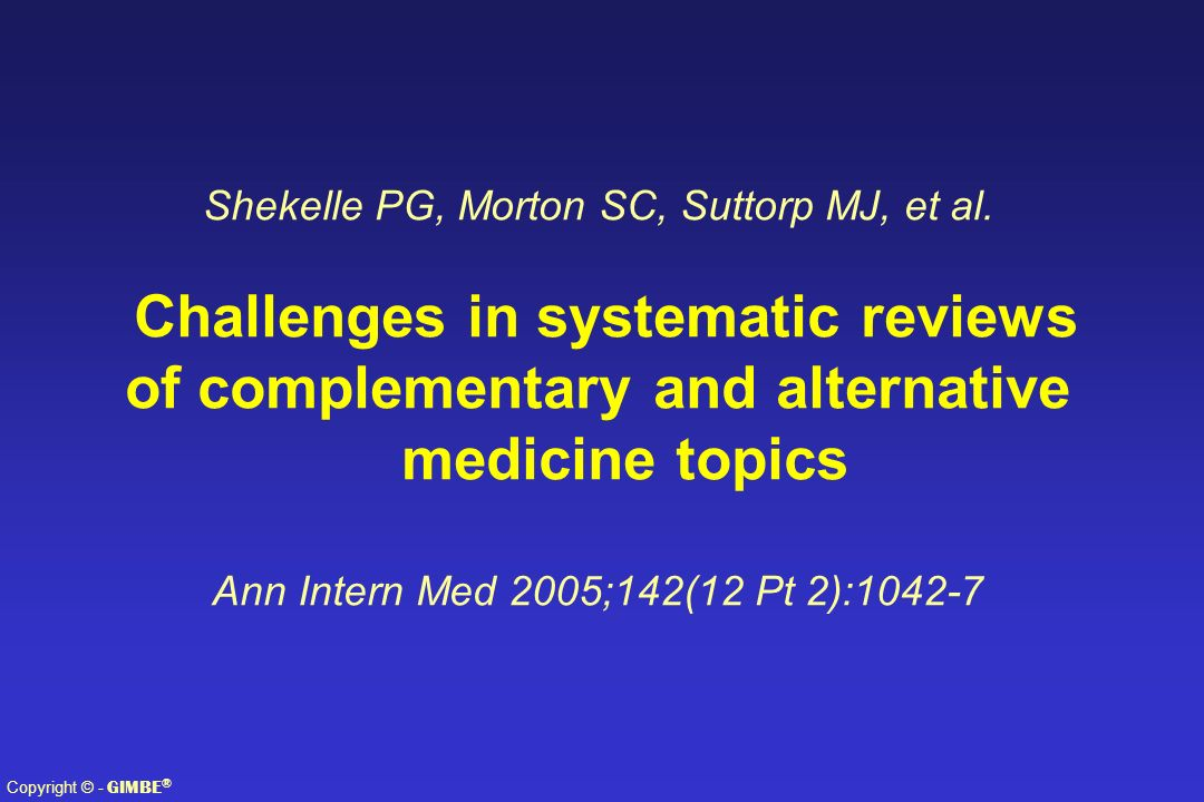 Challenges in systematic reviews