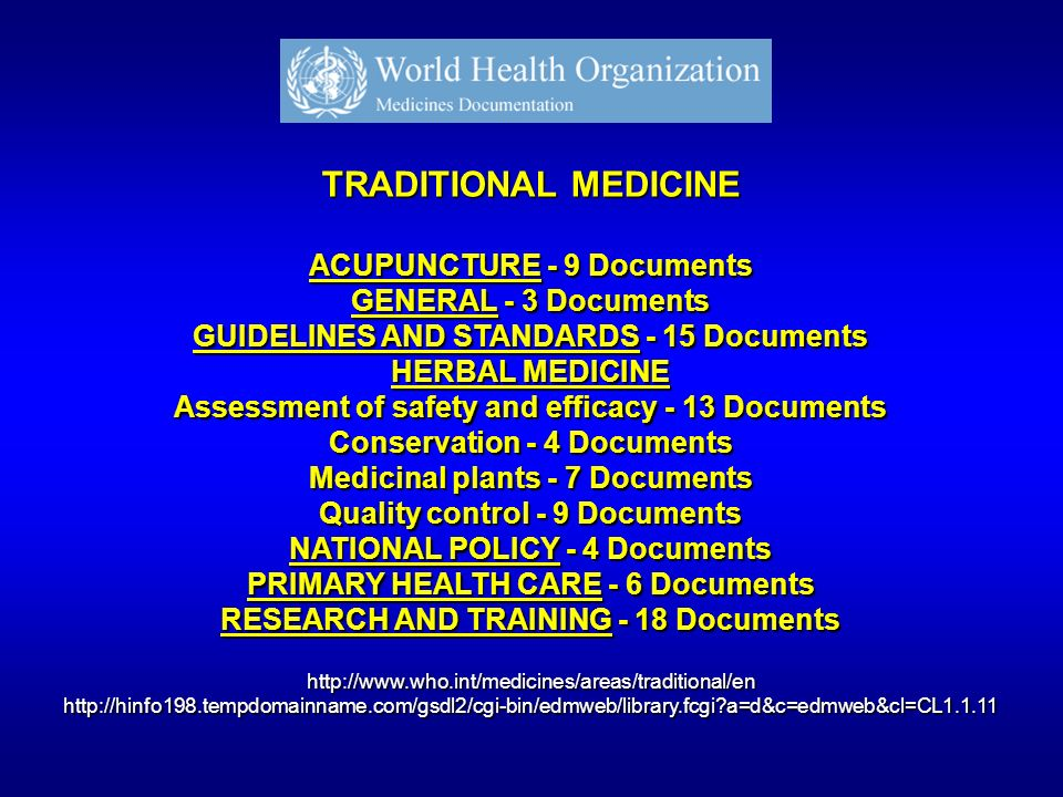TRADITIONAL MEDICINE ACUPUNCTURE - 9 Documents GENERAL - 3 Documents