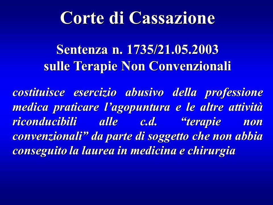 sulle Terapie Non Convenzionali