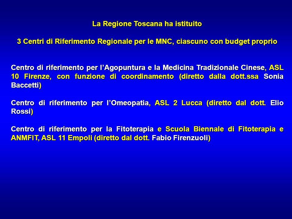 La Regione Toscana ha istituito